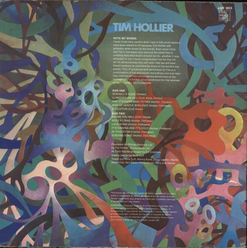 Tim Hollier Tim Hollier vinyl LP album (LP record) UK U3PLPTI712996