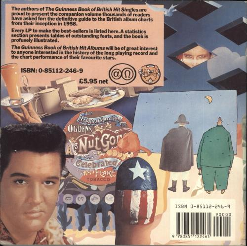 Tim Rice The Guinness Book of British Hit Albums - Softback book UK IC4BKTH721536