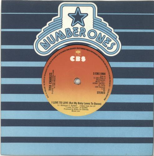 """Tina Charles I Love To Love (But My Baby Loves To Dance) 7"""" vinyl single (7 inch record) UK LRE07IL694525"""
