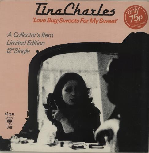 "Tina Charles Love Bug / Sweets For My Sweet 12"" vinyl single (12 inch record / Maxi-single) UK LRE12LO623047"