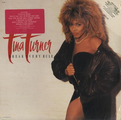 Tina Turner Break Every Rule Sealed Gold Promo Stamped