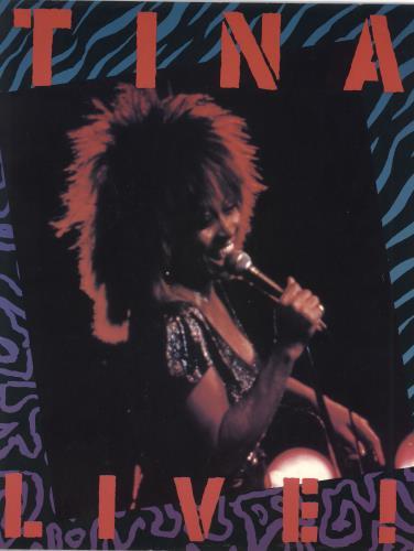 Tina Turner Live! Private Dancer Tour 1985 + Ticket stubs tour programme UK TURTRLI730954
