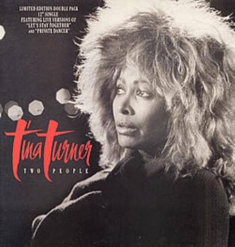 "Tina Turner Two People 12"" vinyl single (12 inch record / Maxi-single) UK TUR12TW23972"