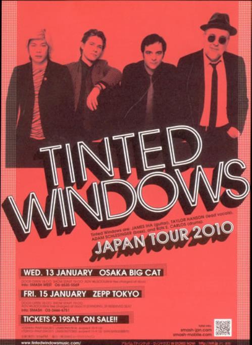 Tinted Windows Japan Tour 2010 handbill Japanese T-VHBJA503410