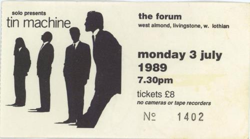 Tin Machine Live - Fully Autographed + ticket stub tour programme UK TINTRLI672811