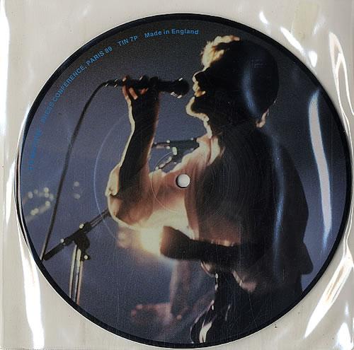 "Tin Machine Press Conference Paris 1989 7"" vinyl picture disc 7 inch picture disc single UK TIN7PPR621770"