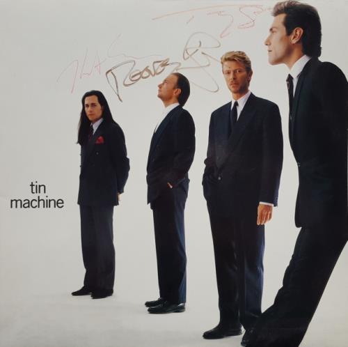 Tin Machine Tin Machine - Signed Sleeve memorabilia Dutch TINMMTI634650