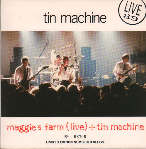 "Tin Machine Tin Machine 7"" vinyl single (7 inch record) UK TIN07TI67257"