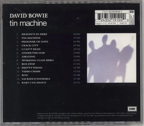 Tin Machine Tin Machine CD album (CDLP) UK TINCDTI768163