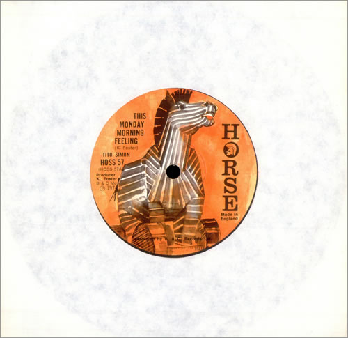 "Tito Simon This Monday Morning Feeling 7"" vinyl single (7 inch record) UK TD507TH493789"