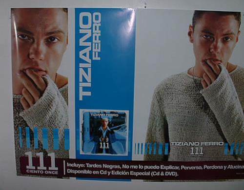 Tiziano Ferro 111 Ciento Once Colombian Promo Poster 322220