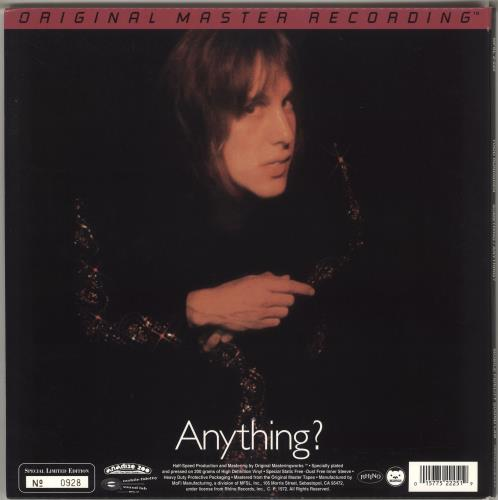 Todd Rundgren Something / Anything? - 200gm 2-LP vinyl record set (Double Album) US TOD2LSO715027