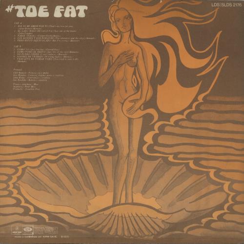 Toe Fat Toe Fat vinyl LP album (LP record) Argentinean TOFLPTO651780