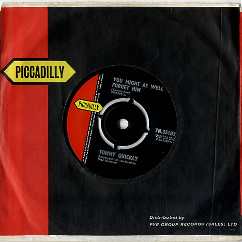 """Tommy Quickly You Might As Well Forget Him 7"""" vinyl single (7 inch record) UK UQP07YO622291"""