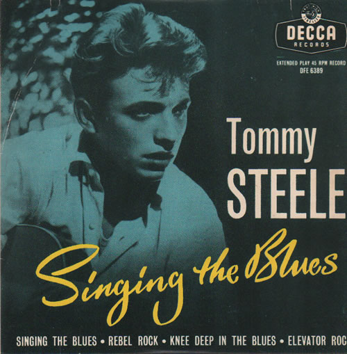 "Tommy Steele Singing The Blues 7"" vinyl single (7 inch record) South African YTS07SI634528"