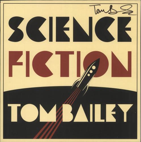 Tom Bailey Science Fiction - 1st [Mispress] - Autographed vinyl LP album (LP record) UK Y53LPSC710049