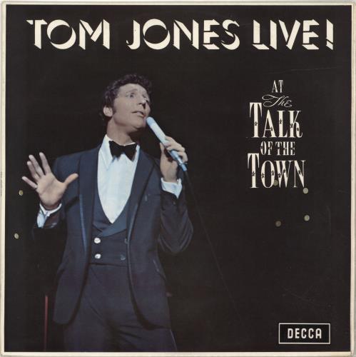 Tom Jones Live! At The Talk Of The Town vinyl LP album (LP record) Australian TJOLPLI691282