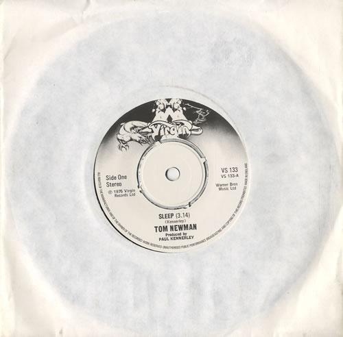 "Tom Newman Sleep 7"" vinyl single (7 inch record) UK T-N07SL545827"