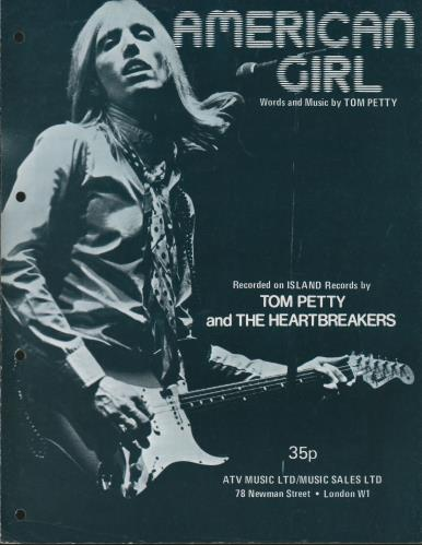 Tom Petty & The Heartbreakers American Girl UK sheet music (677934 ...