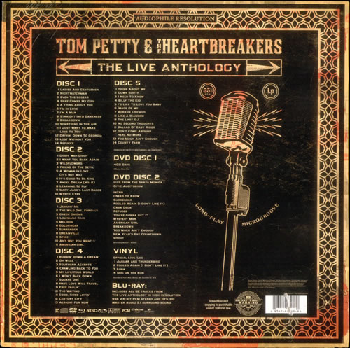 Tom Petty Amp The Heartbreakers The Live Anthology Sealed