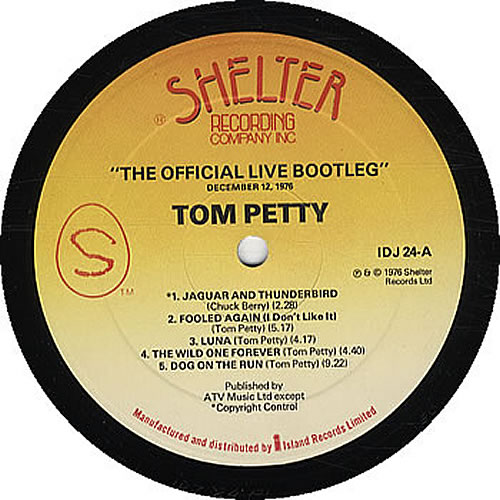 Tom Petty & The Heartbreakers The Official Live Bootleg UK