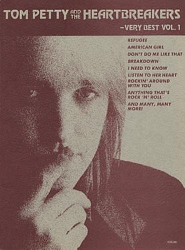 Tom Petty & The Heartbreakers Very Best Vol 1 US book (303898) SONGBOOK