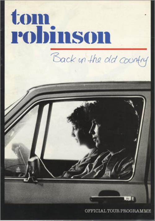 Tom Robinson Back In The Old Country tour programme UK TMRTRBA241566