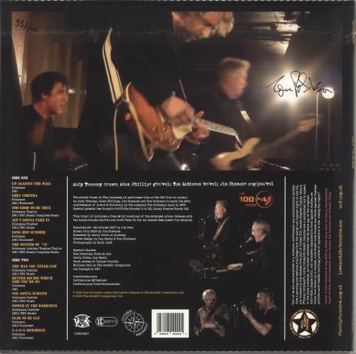 Tom Robinson Power In The Darkness: Live At The 100 Club - Autographed vinyl LP album (LP record) UK TMRLPPO731571