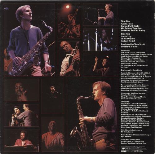 Tom Scott Apple Juice vinyl LP album (LP record) Japanese S6TLPAP723574
