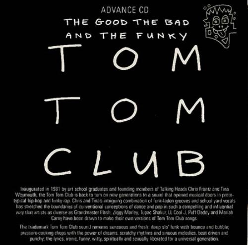 Tom Tom Club The Good The Bad And The Funky CD album (CDLP) UK TTCCDTH162128