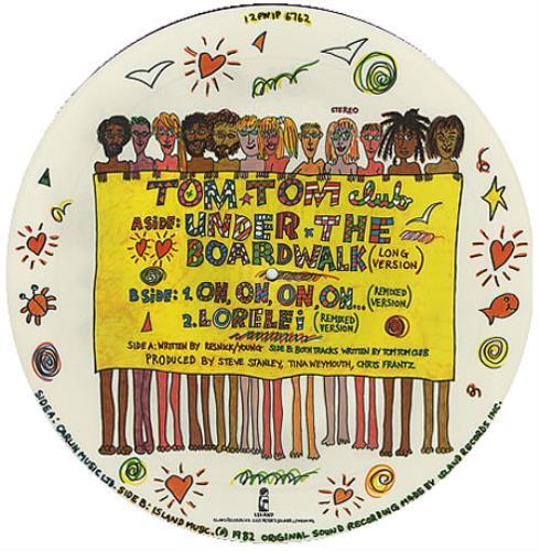 "Tom Tom Club Under The Boardwalk 12"" vinyl picture disc 12inch picture disc record UK TTC2PUN358380"