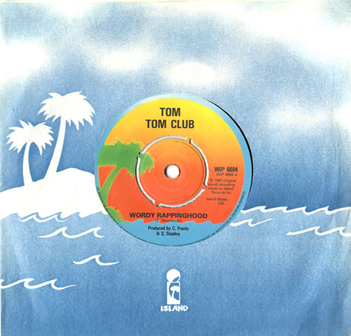 "Tom Tom Club Wordy Rappinghood 7"" vinyl single (7 inch record) UK TTC07WO519201"