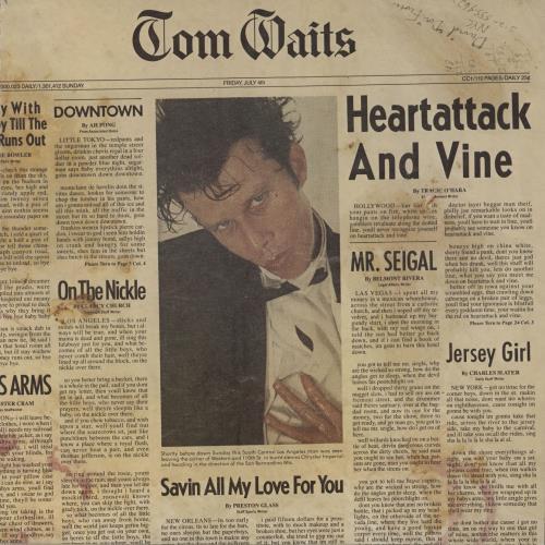 Tom Waits Heartattack And Vine - EX vinyl LP album (LP record) German TMWLPHE734789