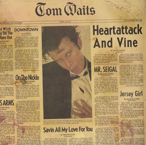 Tom Waits Heartattack And Vine vinyl LP album (LP record) UK TMWLPHE450731