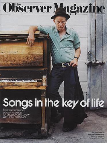Tom Waits Observer Magazine magazine UK TMWMAOB396093