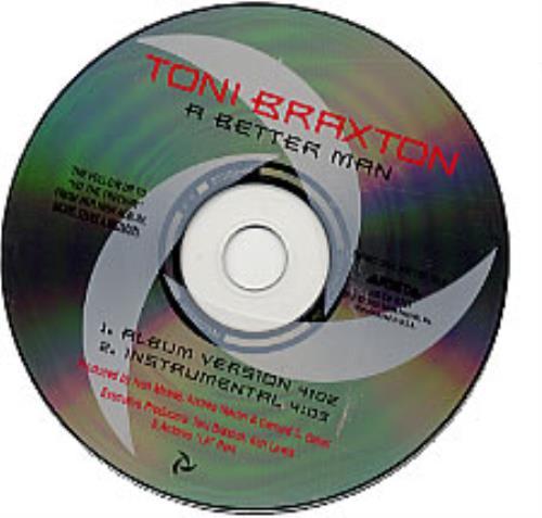 "Toni Braxton A Better Man CD single (CD5 / 5"") US TBXC5AB230602"