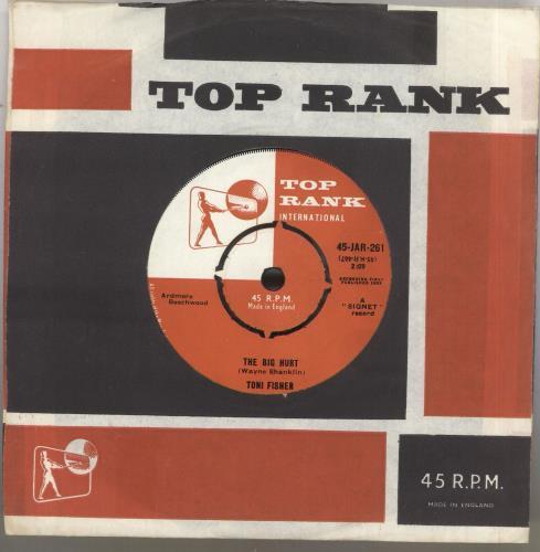 "Toni Fisher The Big Hurt 7"" vinyl single (7 inch record) UK VW807TH571321"