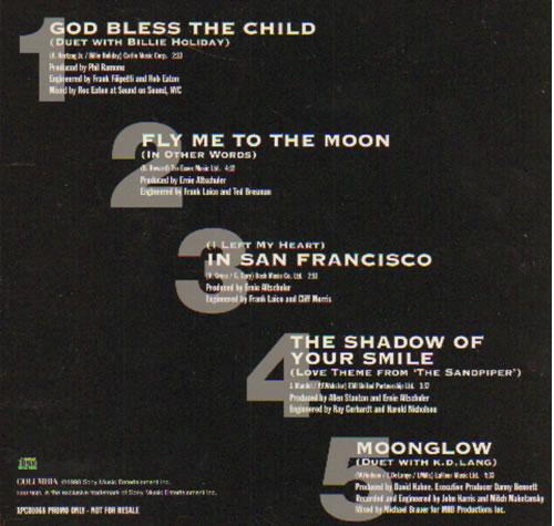 Tony Bennett The Essential - A Retrospective Album Sampler UK Promo CD  single (CD5 / 5