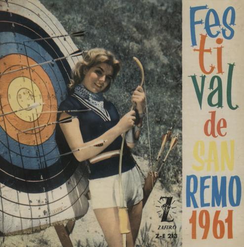 "Tony Dallara Festival De San Remo 1961 7"" vinyl single (7 inch record) Spanish 1-S07FE759636"