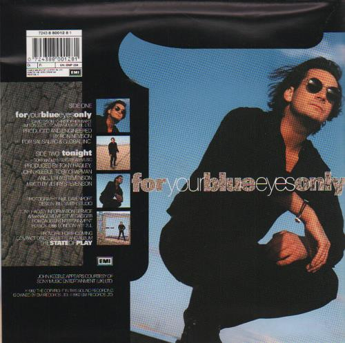 """Tony Hadley For Your Blue Eyes Only - Poster Sleeve 7"""" vinyl single (7 inch record) UK TON07FO60863"""