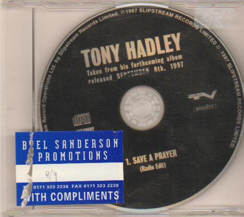 """Tony Hadley Save A Prayer CD single (CD5 / 5"""") UK TONC5SA98620"""