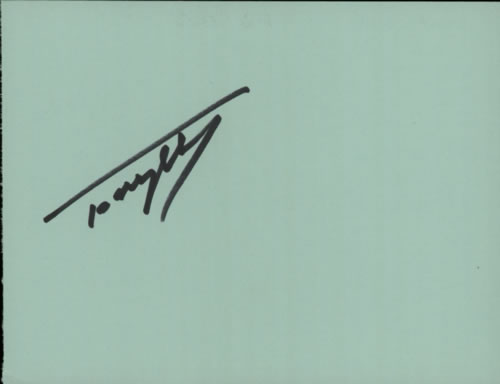 Tony Hicks Page From An Autograph Book memorabilia UK WVSMMPA608885