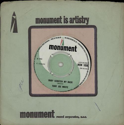 "Tony Joe White Baby Scratch My Back 7"" vinyl single (7 inch record) UK TWJ07BA575636"