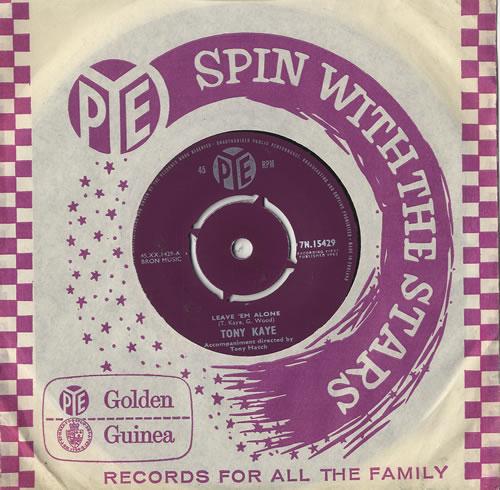 "Tony Kaye Leave 'Em Alone 7"" vinyl single (7 inch record) UK 0KY07LE484546"
