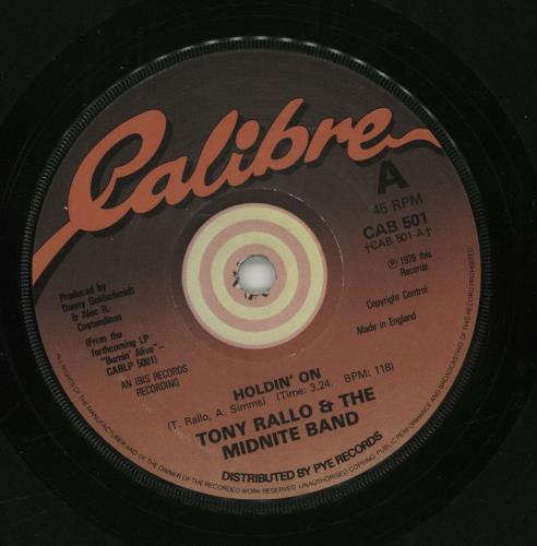 """Tony Rallo And The Midnite Band Holdin' On 7"""" vinyl single (7 inch record) UK WPW07HO677418"""