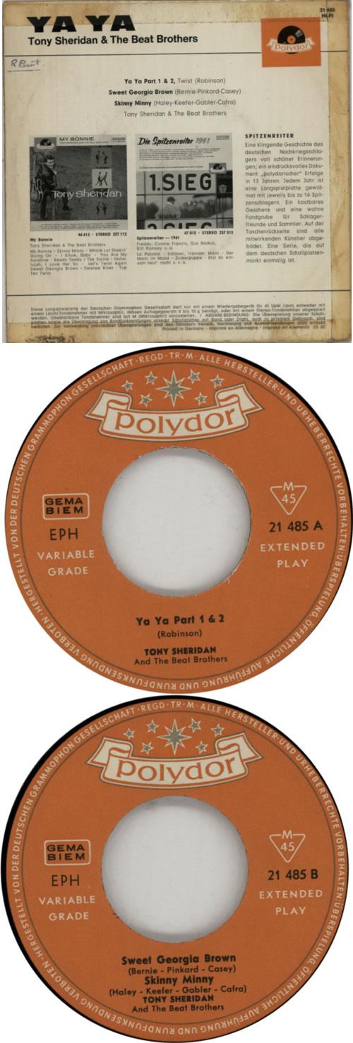 """Tony Sheridan Ya Ya EP 7"""" vinyl single (7 inch record) German T5S07YA612374"""