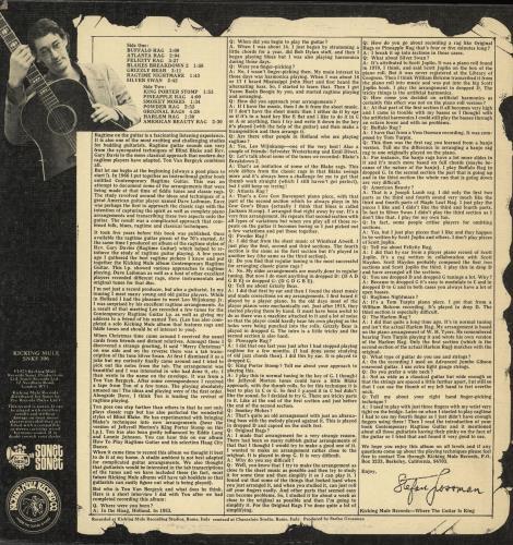 Ton Van Bergeyk Famous Ragtime Guitar Solo's vinyl LP album (LP record) UK V5PLPFA701574