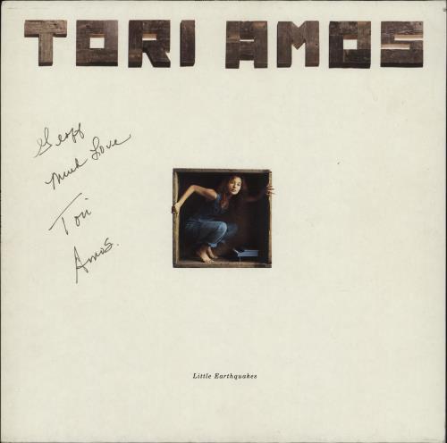 Tori Amos Little Earthquakes - Autographed vinyl LP album (LP record) German TORLPLI765470