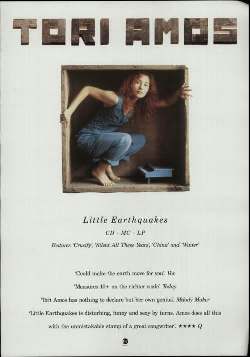 Tori Amos Little Earthquakes poster UK TORPOLI617941