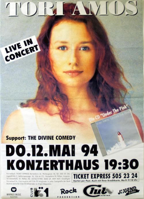 Tori Amos Live In Concert Konzerthaus May 1994 poster Austrian TORPOLI617969